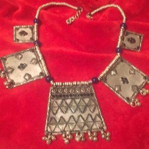 Lapis & silver chocker necklace. NWOT